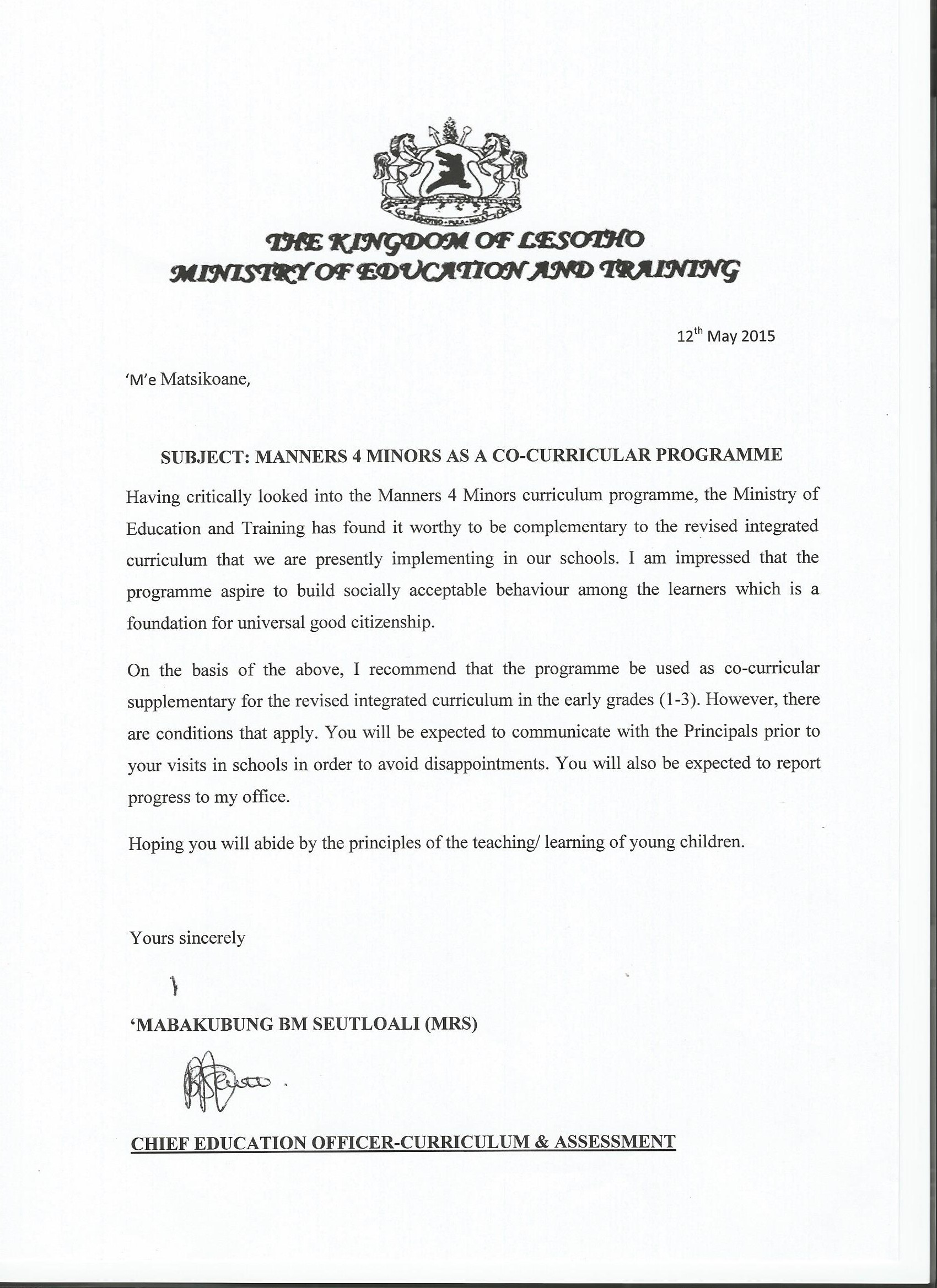 support letters mannersminors letter